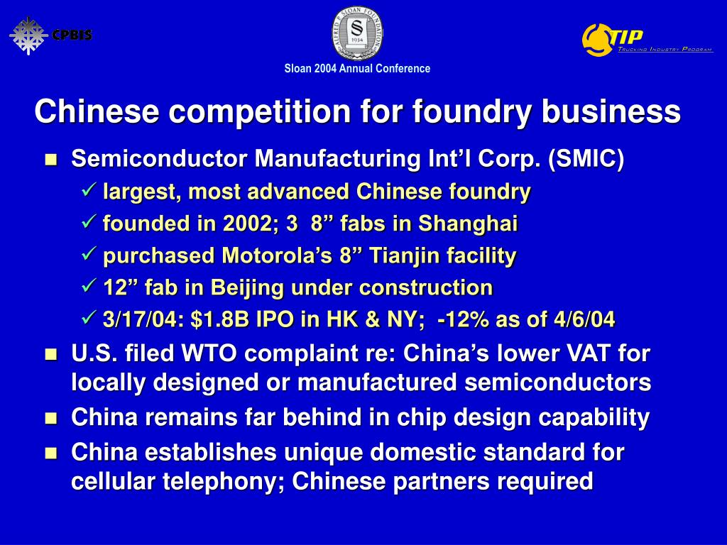 Chinese competition for foundry business