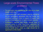 large scale environmental flows problems