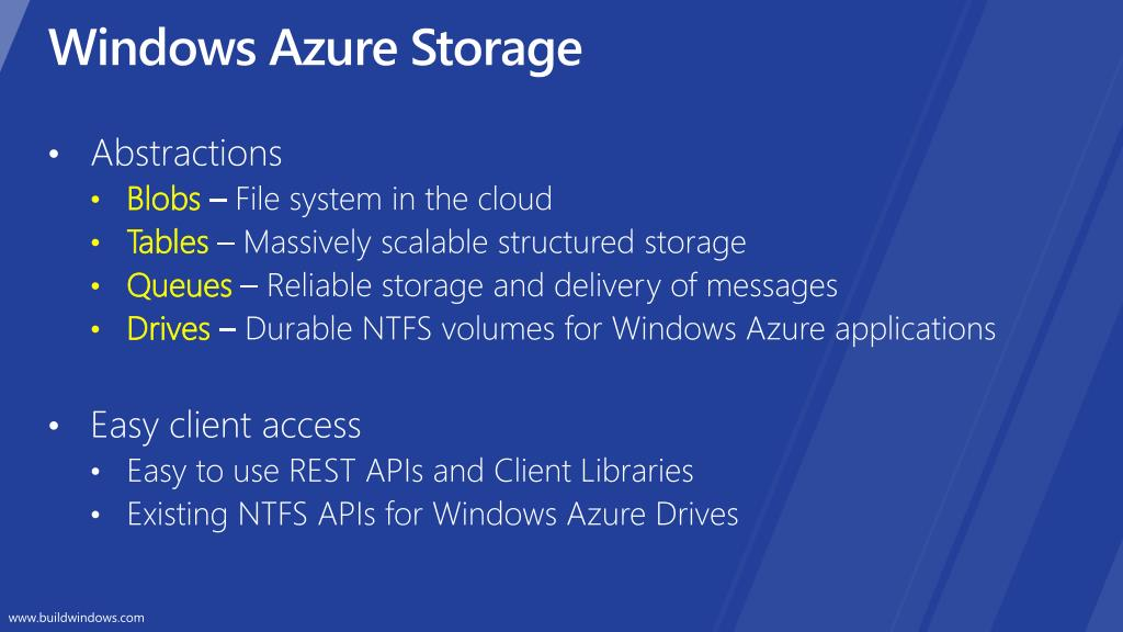 PPT - Inside Windows Azure Storage : what's new and under the hood