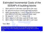 estimated incremental costs of the sdsap s 6 building blocks