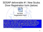 sdsap deliverable 1 new scuba diver registration form below