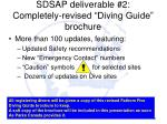 sdsap deliverable 2 completely revised diving guide brochure