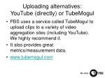 uploading alternatives youtube directly or tubemogul