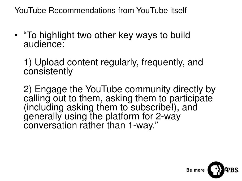"""To highlight two other key ways to build audience:"