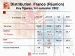 distribution france r union key figures 1st semester 200216
