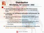 distribution milestones 1st semester 2002