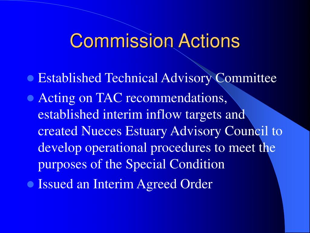 Commission Actions