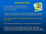 golf cart use