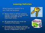 leasing vehicles