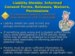liability shields informed consent forms releases waivers permissions