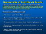 sponsorship of activities events