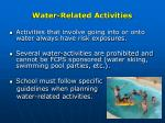 water related activities