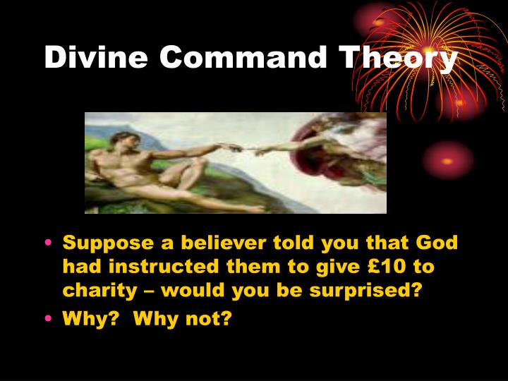 the divine command theory dct essay Divine command theory according to the divine command theory (dct) we will write a custom essay sample on.