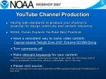 youtube channel production