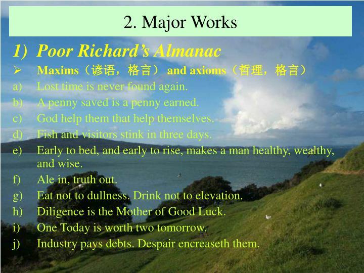 2. Major Works