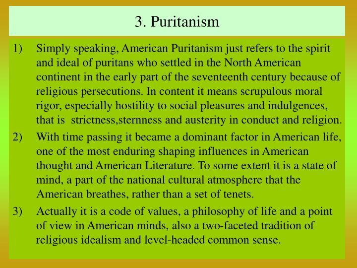 3. Puritanism
