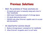 previous solutions15