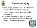 fitness and injury