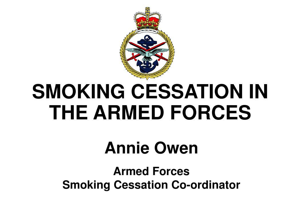 smoking cessation in the armed forces l.