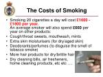 the costs of smoking