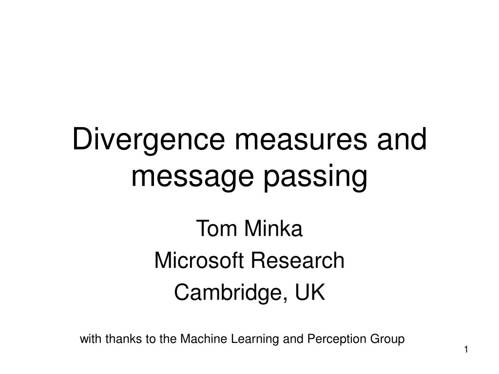 Divergence measures and message passing