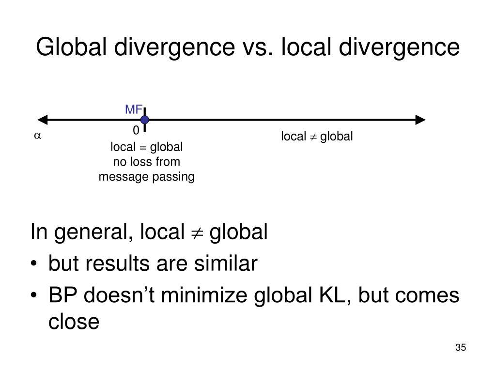 Global divergence vs. local divergence