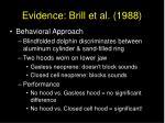 evidence brill et al 1988