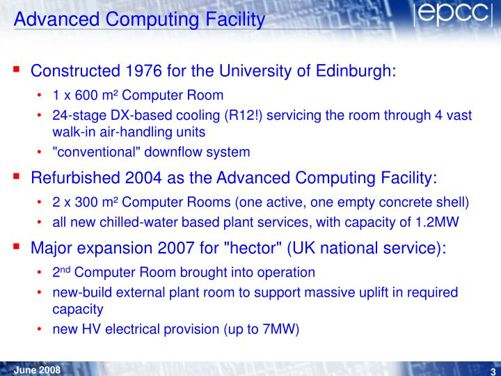 Advanced computing facility