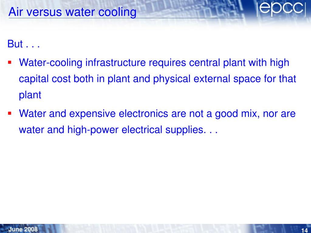 Air versus water cooling