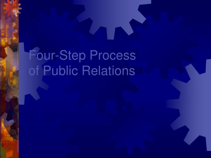 four step process of public relations n.