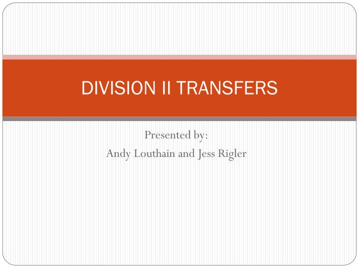 division ii transfers n.