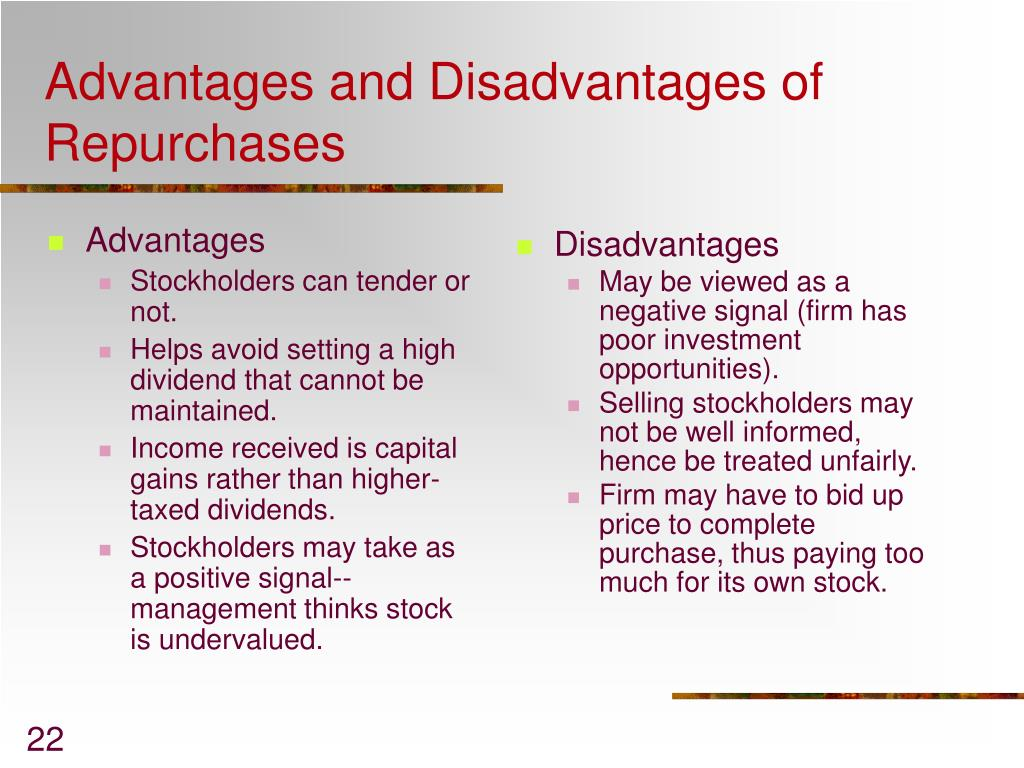 shareholders advantages and disadvantages