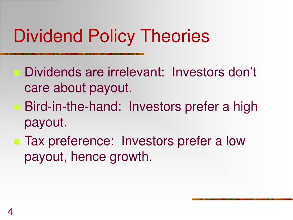 essays dividend policy theories