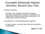 countable athletically related activities missed class time