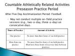 countable athletically related activities preseason practice period24