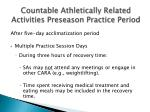 countable athletically related activities preseason practice period25