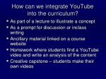 how can we integrate youtube into the curriculum