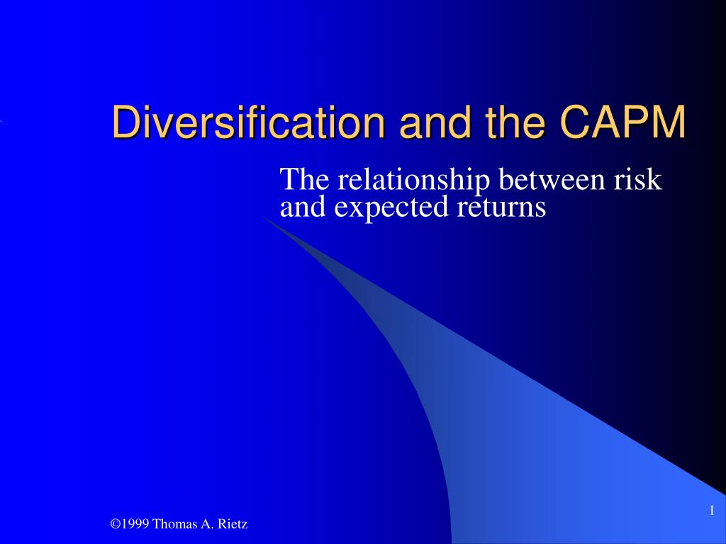 diversification and the capm l.