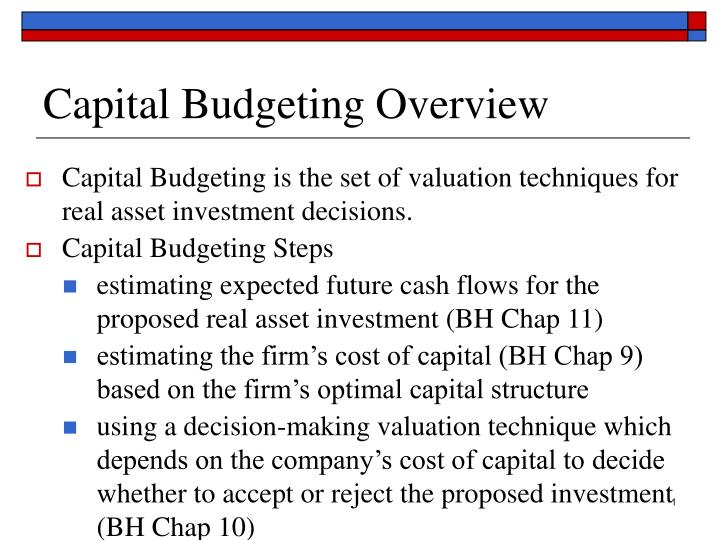 capital budgeting case study on asset In the two capital budgeting cases corporations (a and b) have different revenues values and expenses as well as variable depreciation expenses, tax rates and discount rates.