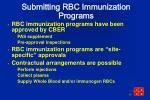 submitting rbc immunization programs