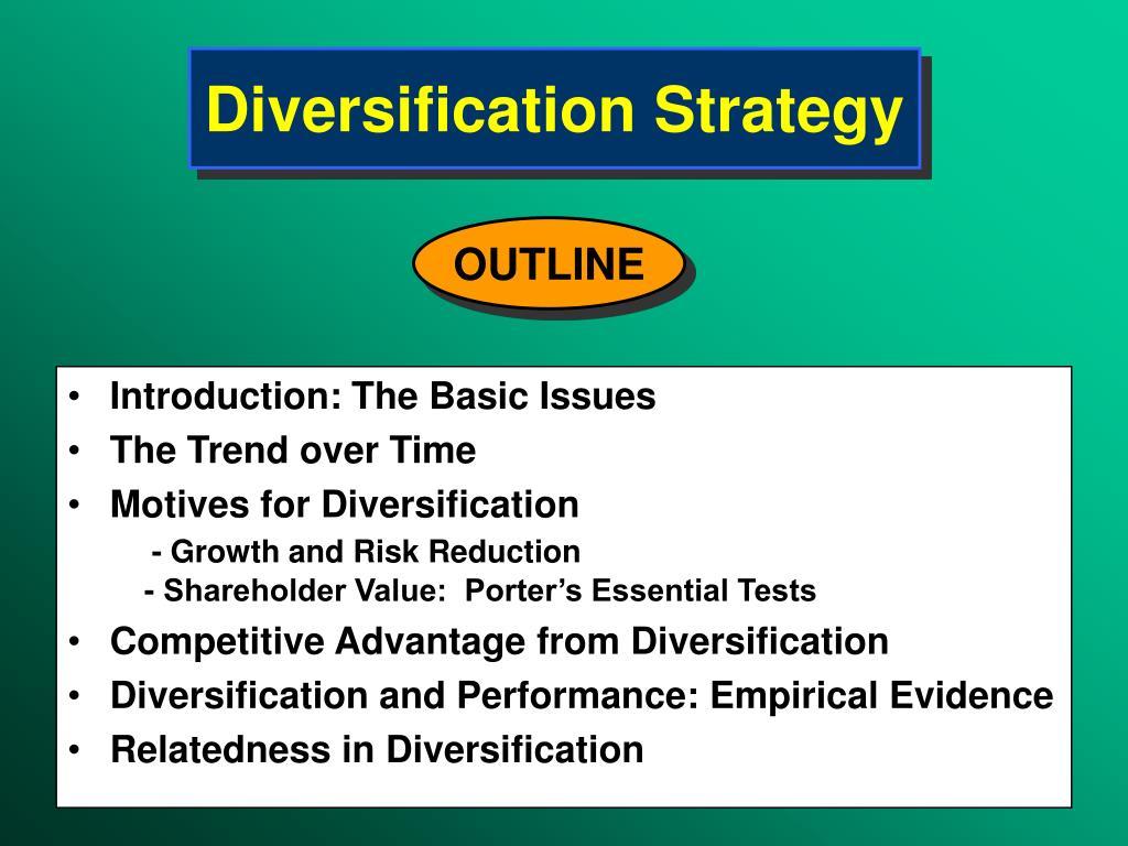 diversification strategy กลยุทธ์การเติบโตด้วยธุรกิจใหม่ (diversification strategy) คือ.