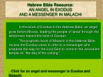 hebrew bible resource an angel in exodus and a messenger in malachi
