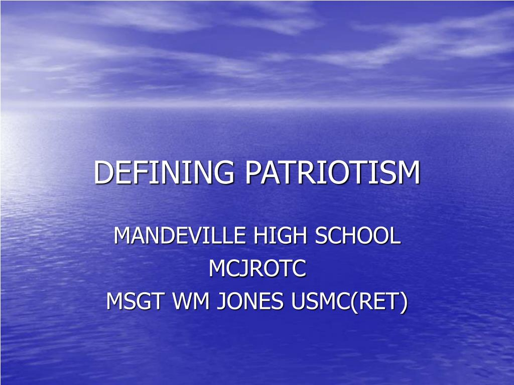 defining patriotism l.
