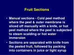 fruit sections