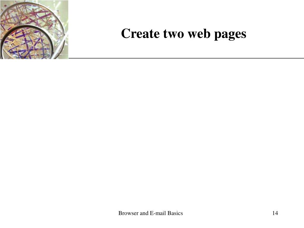 Create two web pages