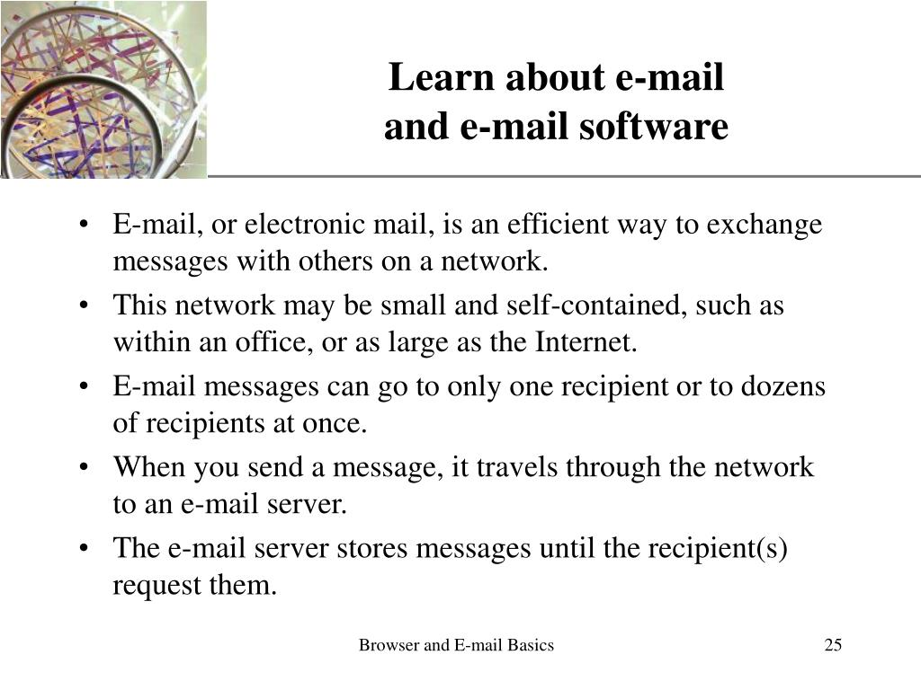 Learn about e-mail