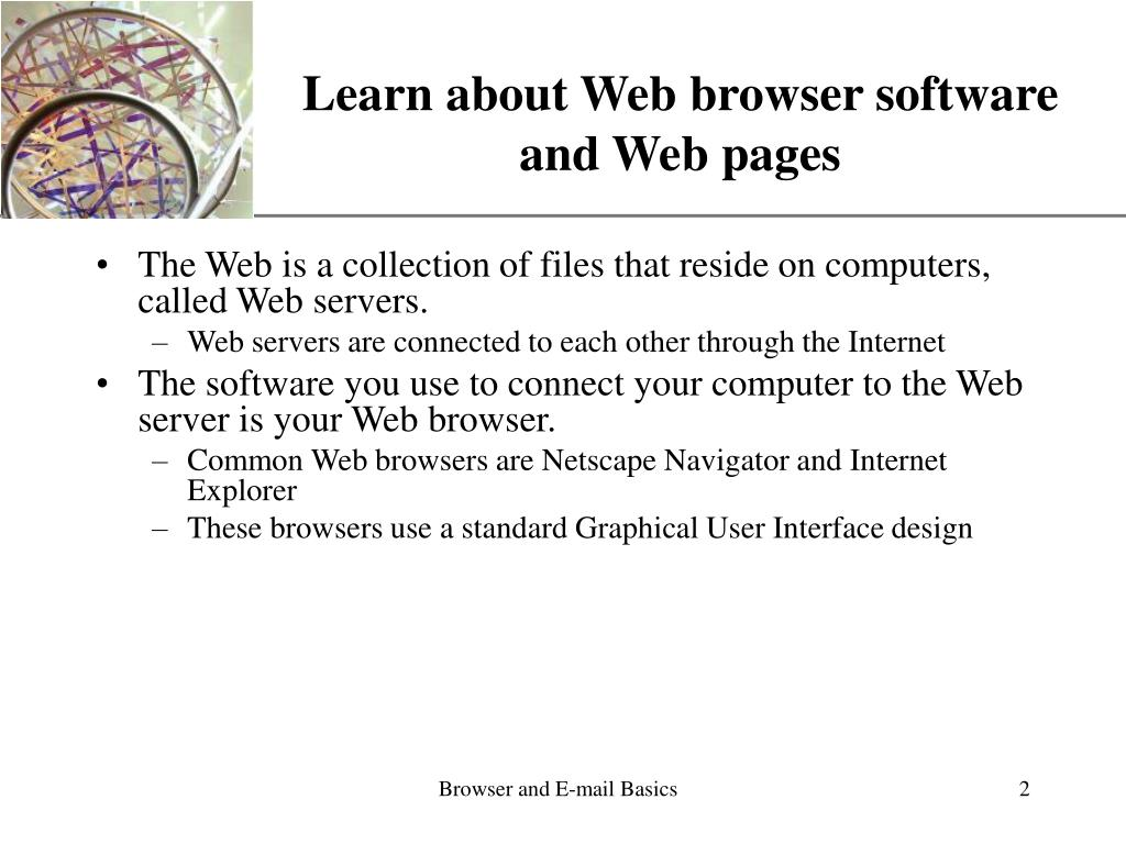 Learn about Web browser software and Web pages
