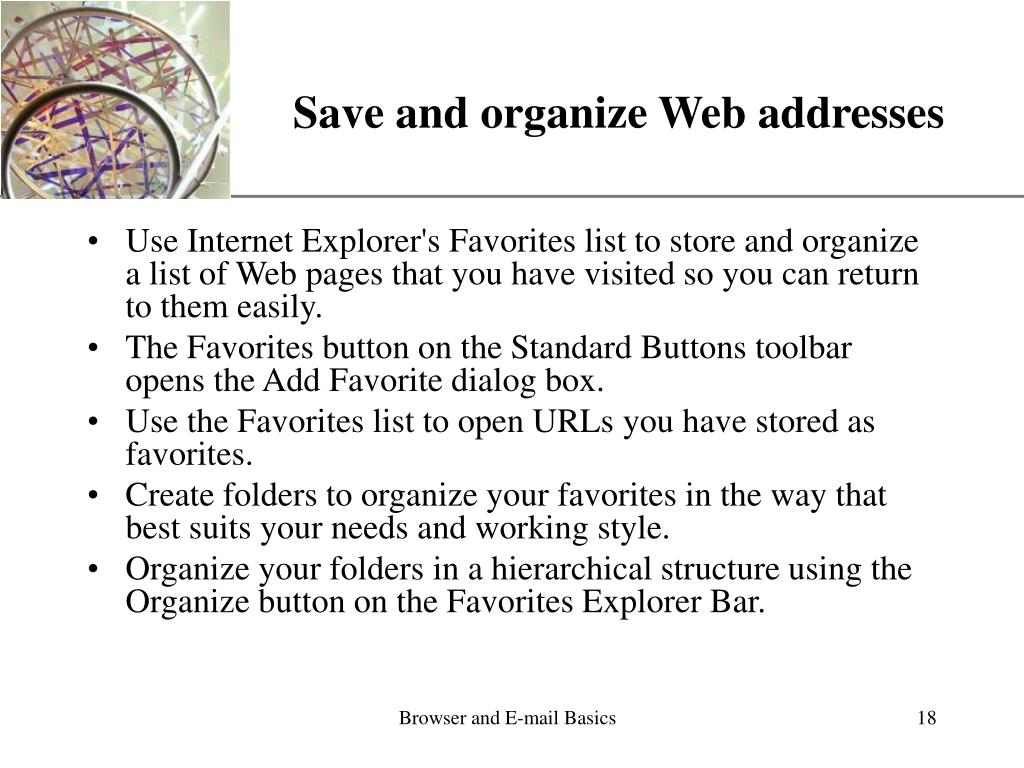 Save and organize Web addresses