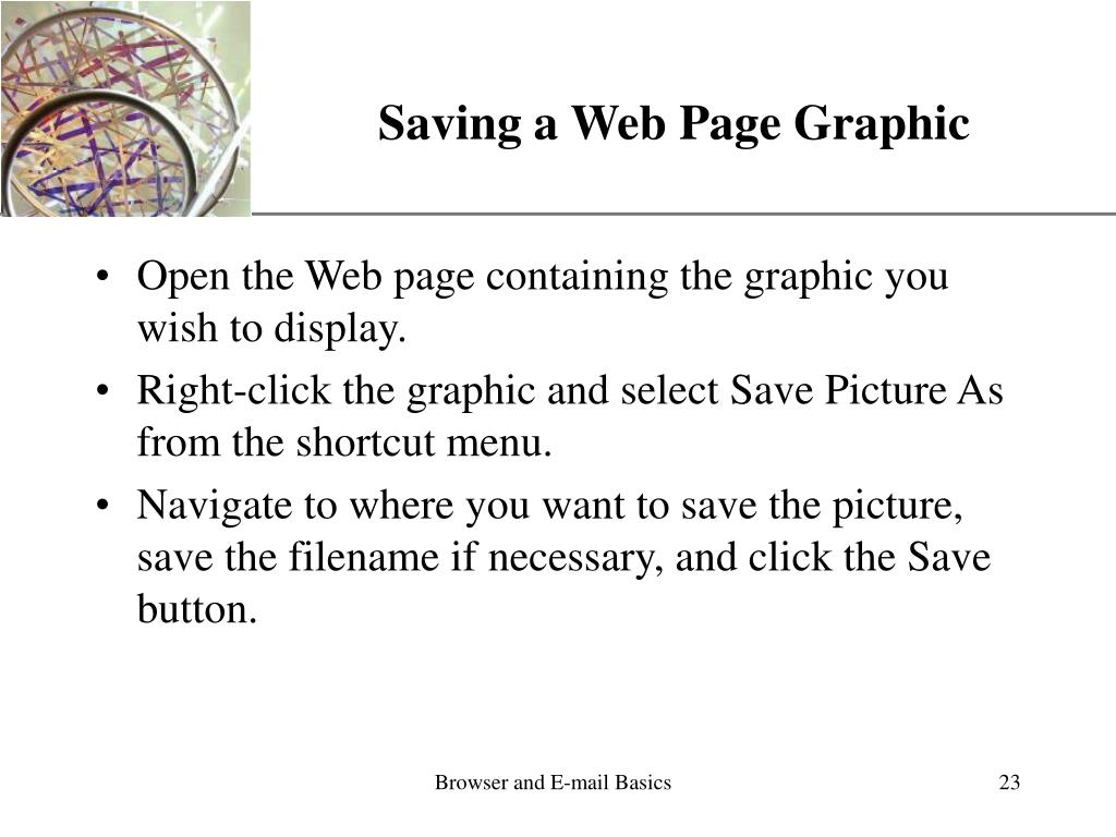 Saving a Web Page Graphic