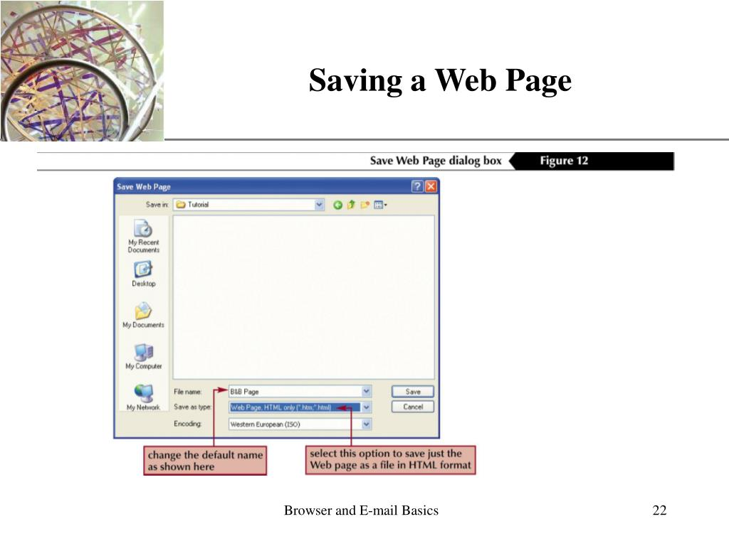 Saving a Web Page